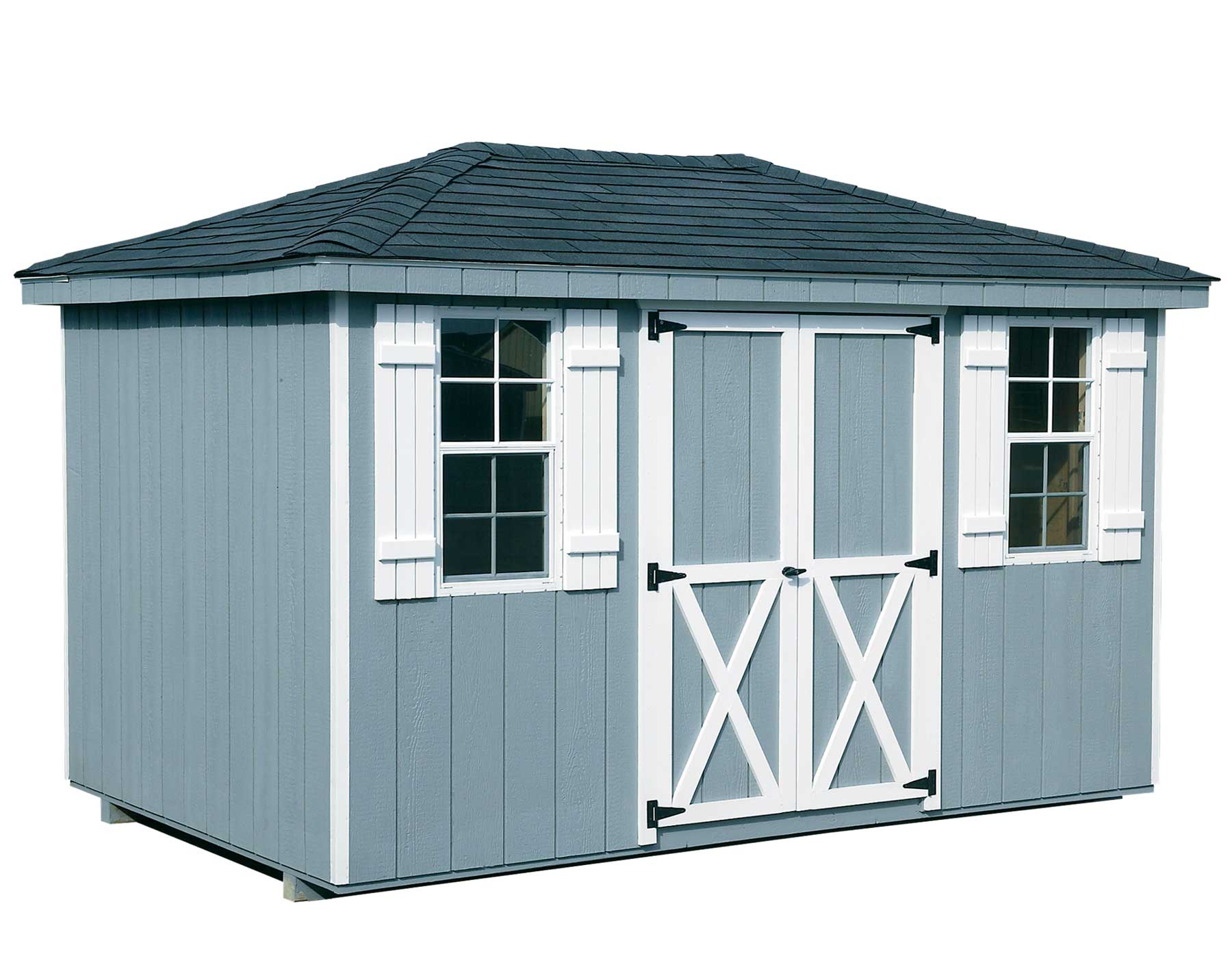 Dura Temp Siding Hip Roof Style Sheds Sheds By Siding