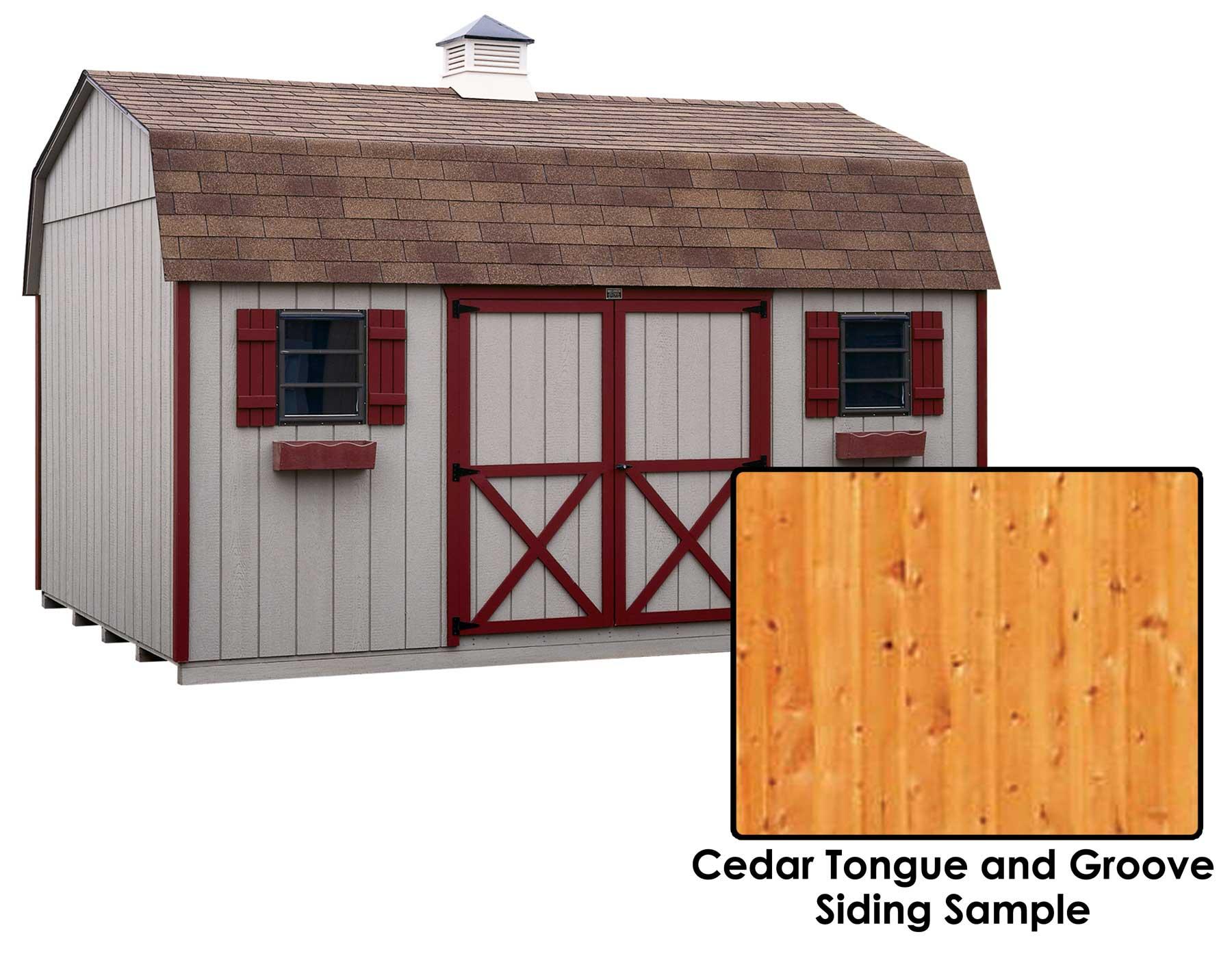 Cedar Tongue Groove Barn Style 6 39 Sidewall Sheds Sheds By Siding