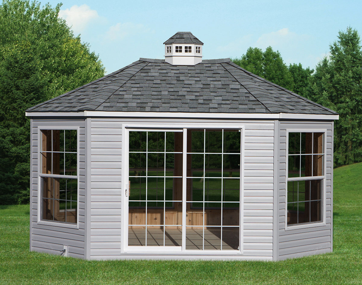 8 sided oval sunrooms custom sunrooms for 12x18 shed window