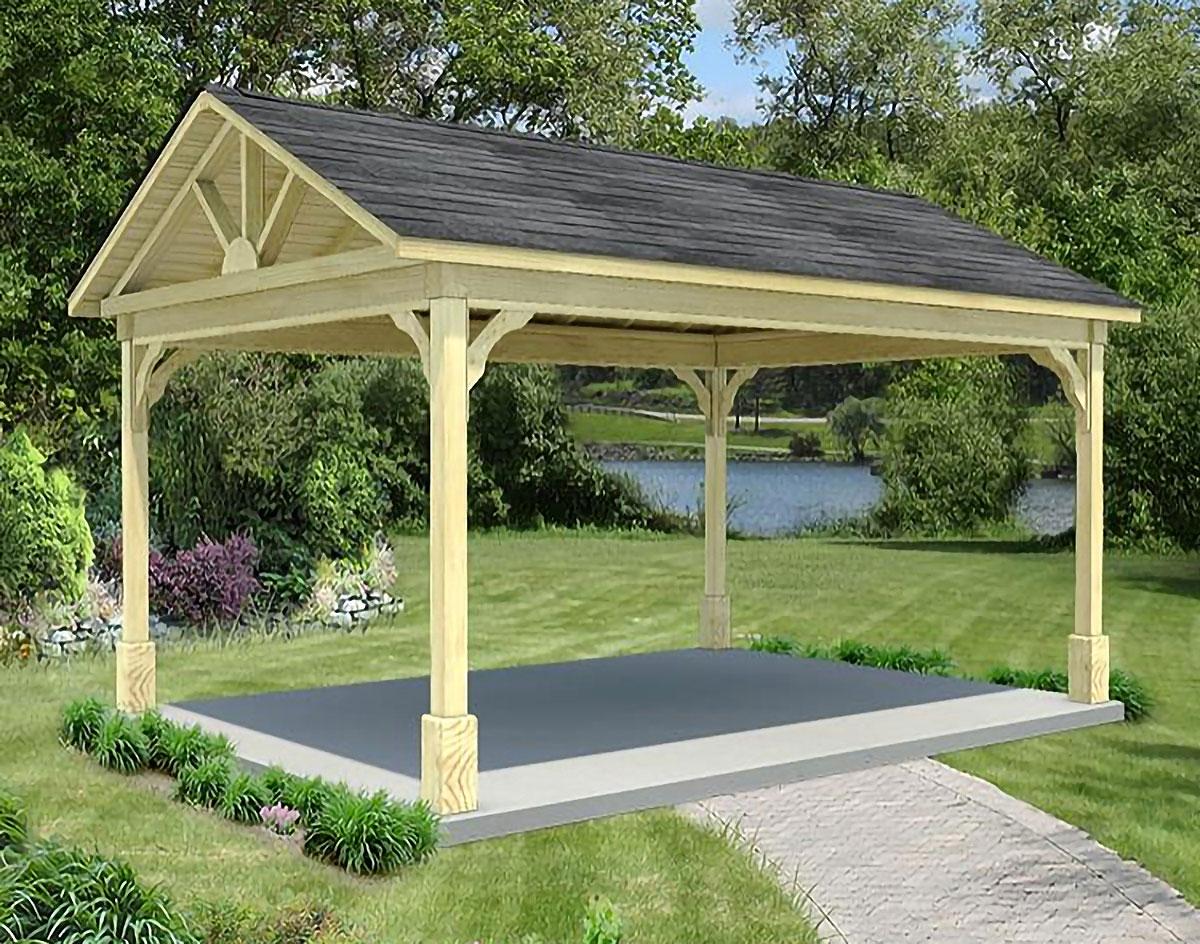 treated pine long gable open rectangle gazebos gazebos by style