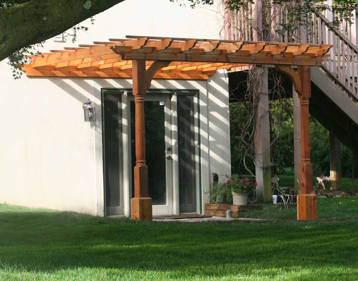 red cedar vintage classic wall mount pergolas pergolas by mount. Black Bedroom Furniture Sets. Home Design Ideas