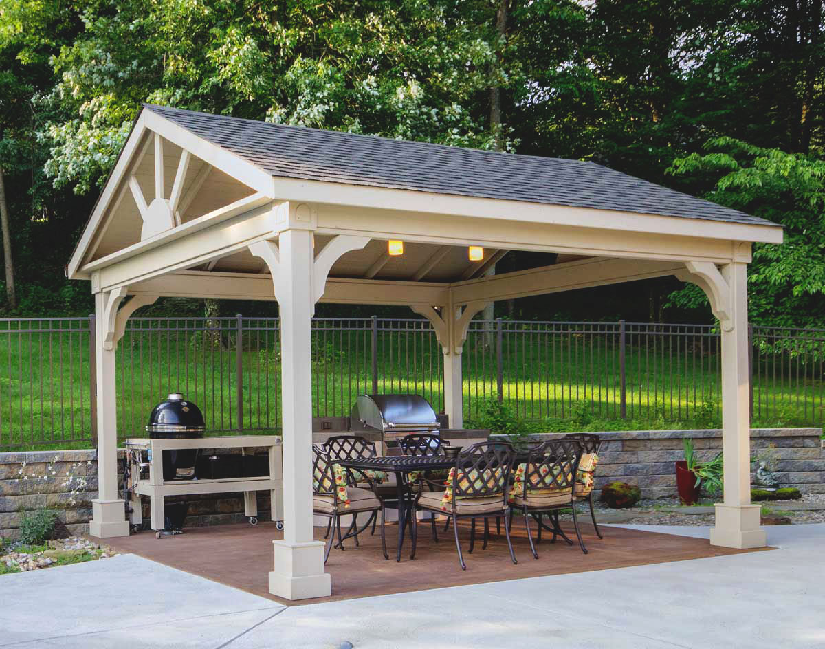 Red Cedar Long Gable Open Rectangle Gazebos | Gazebos by Style | GazeboCreations.com