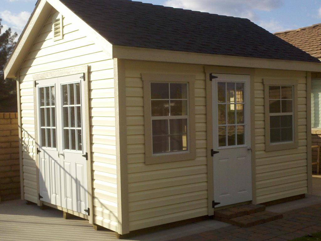 vinyl siding deluxe estate sheds